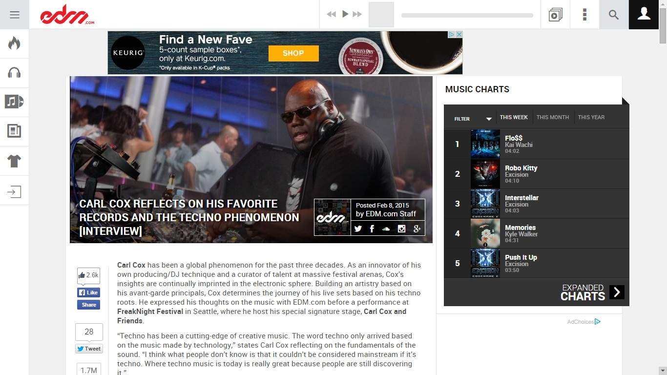 Carl Cox interview edm.com